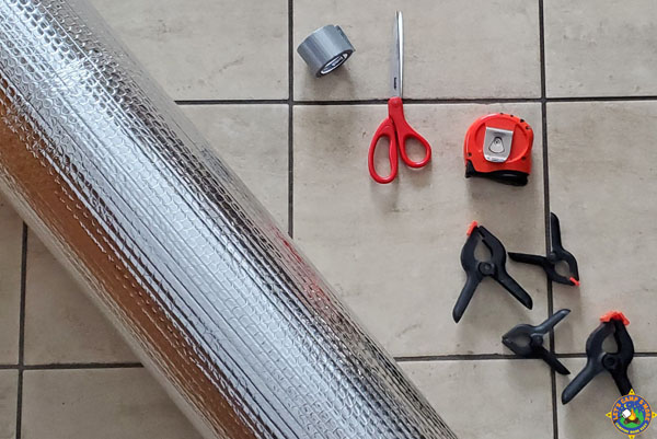 supplies needed to make a thermal fire reflector