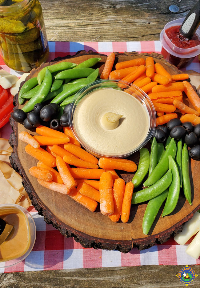 Vegetables on a Wooden Display Board