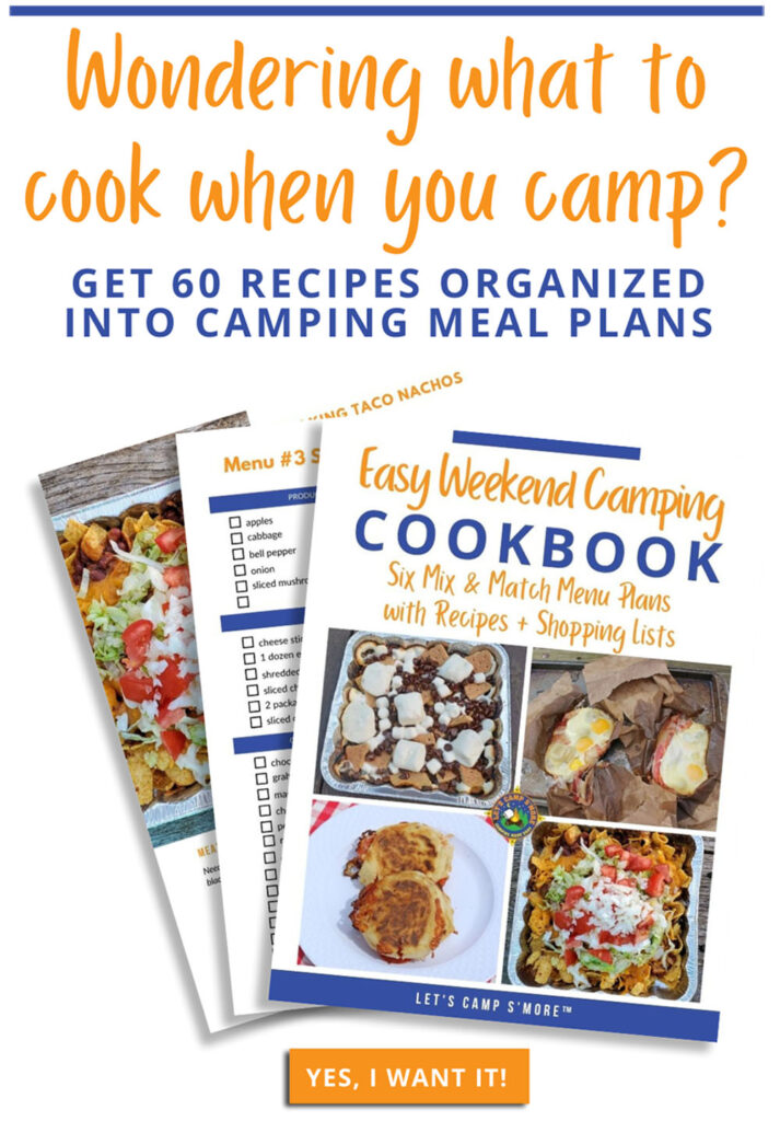 promotion of camping cookbook