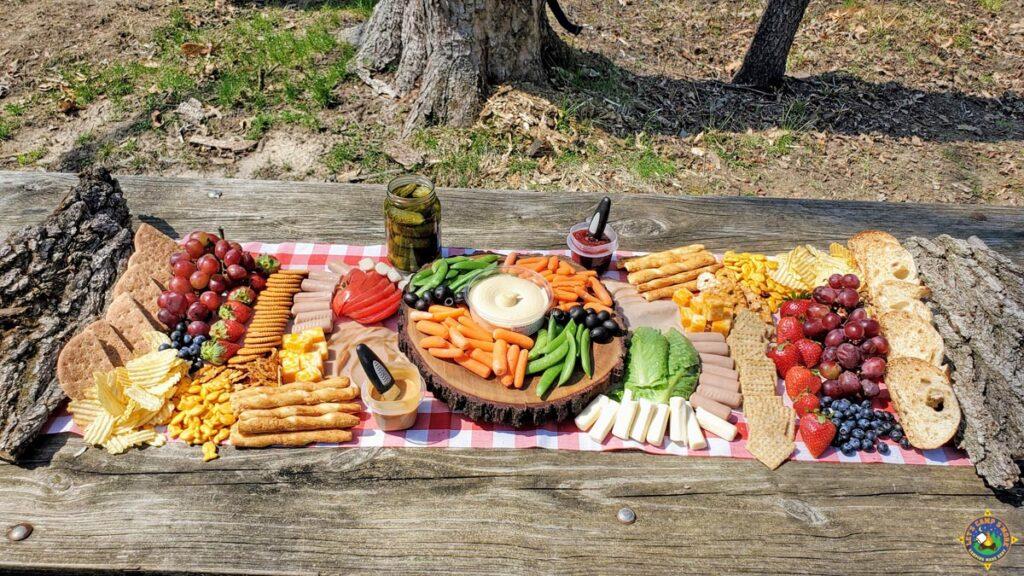Aldi Charcuterie Board - all ingredients are from Aldi