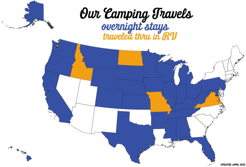 RV map of the USA