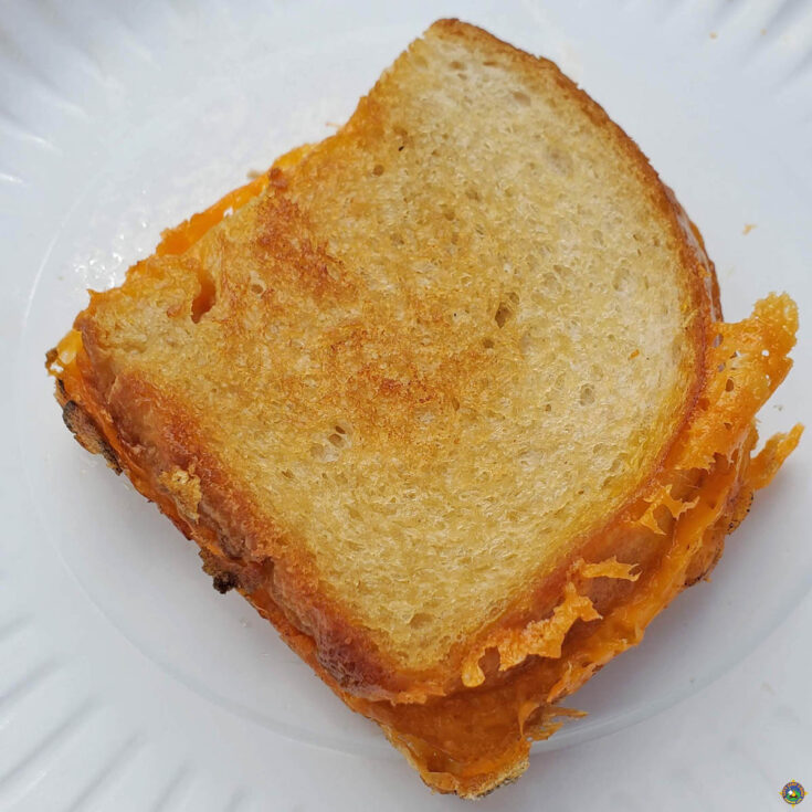 a perfectly grilled cheese sandwich