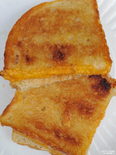 grilled cheese sandwiches made while camping