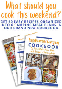 easy camping cookbook promotion