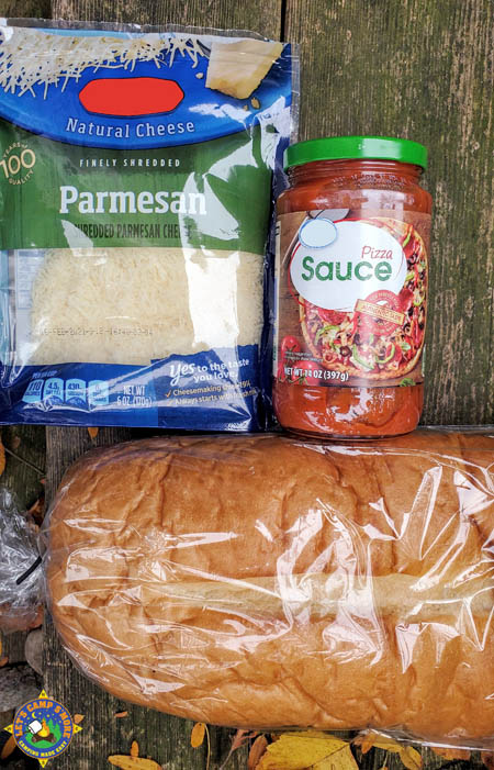 ingredients for French bread pizza