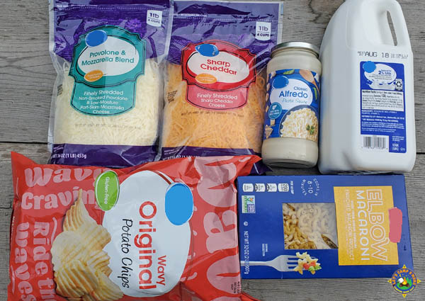 ingredients for cheese and macaroni