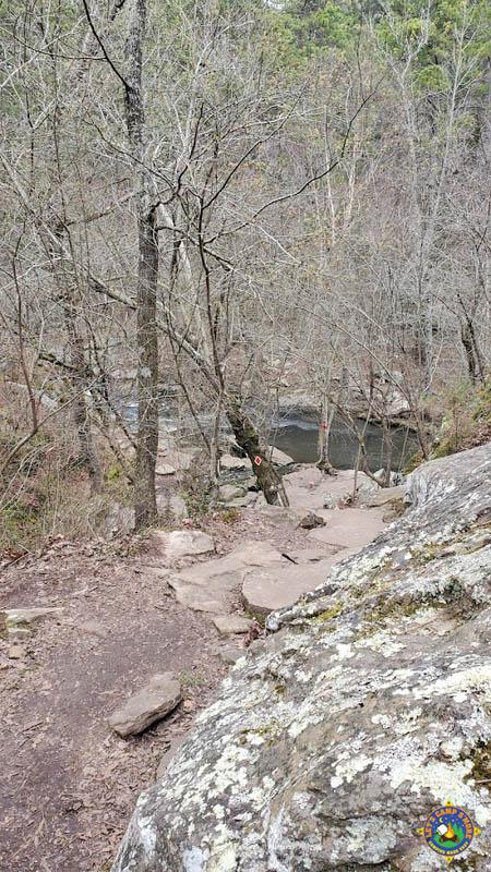 hiking trail at Petit Jean State Park