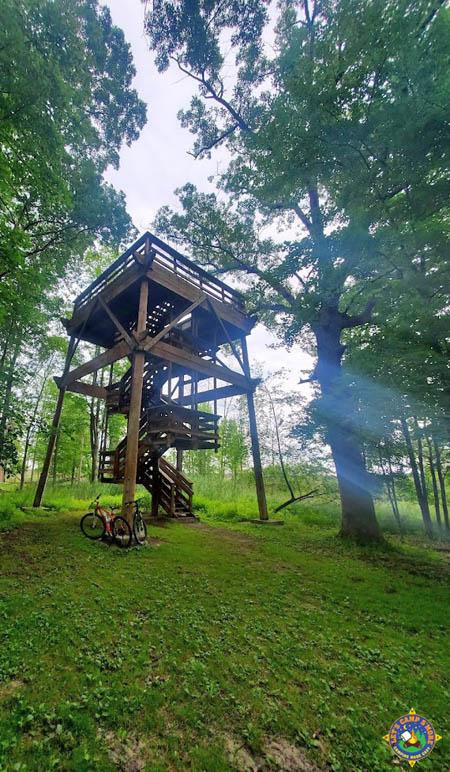 overlook tower at Tobico Marsh