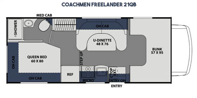floorplan of the 21QB