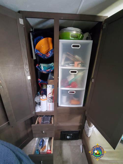storage closet in an RV